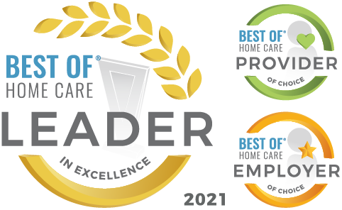Home Care Pulse Leader in Excellence 2021, Provider of Choice and Employer of Choice