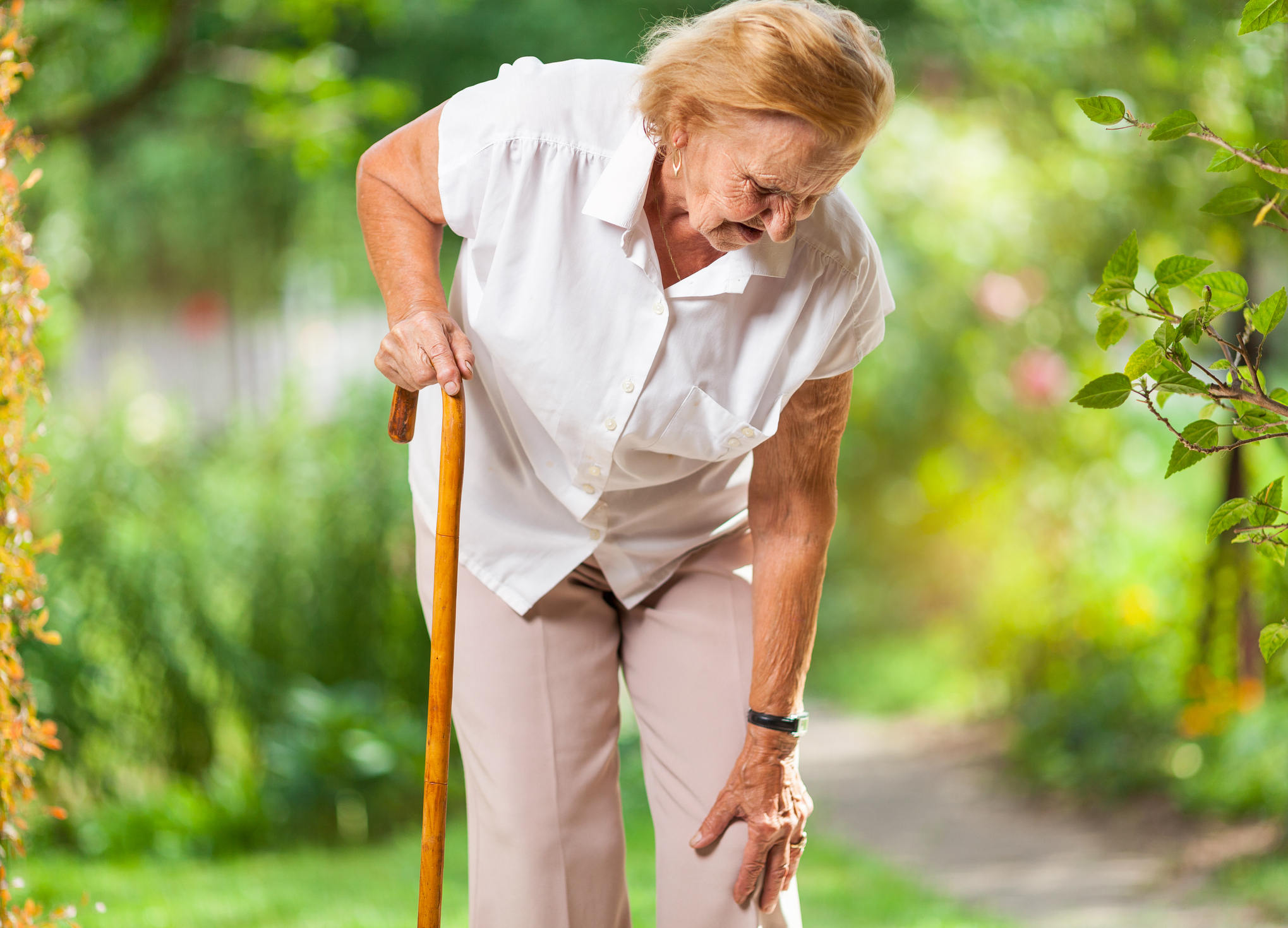 Osteoarthritis, stiff muscles and joints can increase the fall risk for seniors.
